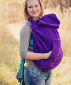 Magia delle Mamme Babywearing Fleece Cover Cosy Frog Purple