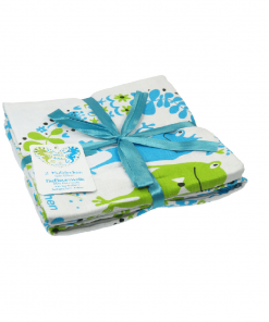 Blümche-swaddle-blanket-120x120cm-Organic-Cotton-(Pack-of-2)-Frog