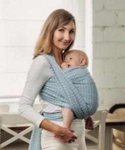 magia-delle-mamme-Basic-Line-Baby-Sling-LITTLELOVE-SKY-BLUE-Jacquard-Weave