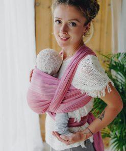magia-delle-mamme-fascia-porta-bebè-cotone-bamboo-Little-Frog-Woven-wrap-Bamboo-Ruby